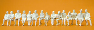 Preiser 63001 Seated Passengers, 15 Unpainted Figures, Gauge 1