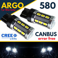 580 W21/5w T20 Error Free Cree Smd Drl Sidelight 7443 Super White Hid Bulbs 12v