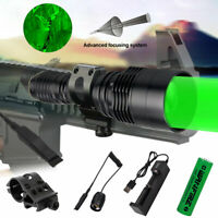 Green Red LED Tactical Flashlight Torch Hunting Light Gun Rifle Mount  Zoom