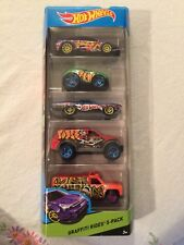 Hot Wheels WORKSHOP Graffiti Rides 5 Pack SEALED IN PACKAGE