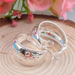 Fashion Women Acrylic Circle C Shaped Statement Hoop Earrings Jewelry FA