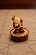 zwei Motiv Kerzen Teelicht Weihnachtsmann Nostalgie Rot Weiß Schmuckkerze candle
