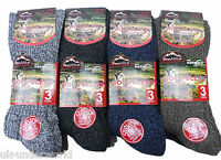 6 Pairs Mens Thick Wool Blend Thermal Non Elastic Socks Cushion Sole Winter Warm