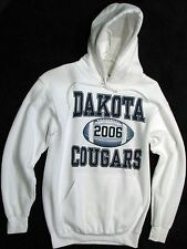 Gildan™ Heavy Blend white hooded sweatshirt 'Dakota Cougars 2006' Hoodie-Adult S
