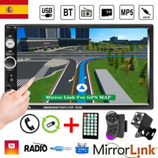 7'' 2DIN Pantalla táctil Autoradio GPS Bluetooth MP5 Player FM Auto Radio+Cámara