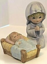 Homco Mary Mother And Baby Jesus 5602 Childs Nativity Creche Ceramic Figurines