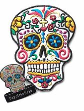 Dia de los Muertos (Day of the Dead) Candy Mask Embroidered Patch + Badge (C3)