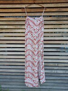 H&M Maxi Dress Size 10 ~ Summer, Floral, Side Splits