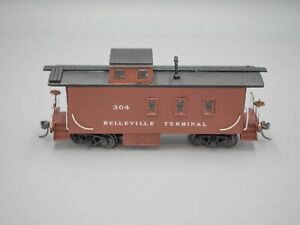 Wooden Kit Caboose - HO Scale - Private Name - Full Interior - Built