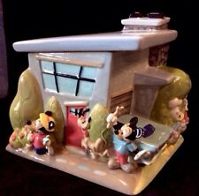 Casa De Mickey Urban House Cookie Jar Mickey Minnie Goofy Donald Pluto Fab 5 MIB