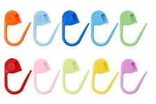 PLASTIC LOCKING NEEDLE STITCH HOLDERS MARKERS FOR CROCHET KNITTING CLIPS CRAFT
