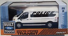 2015 FORD TRANSIT POLICE 911 TO PROTECT AND SERVE 1:43 HEAVY DIECAST RUBBER TIRE