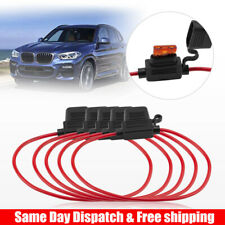 5 PCS 12AWG ATN 40AMP Automotive Water-Resistant Inline Fuse Holder Blade Kits
