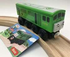 Thomas Wooden Railway Boco 2002 MINT Vintage Train Set Engine & Collector's Card