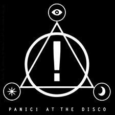 5605 Panic at the Disco Black White Symbols Logo Rock Emo Music Sticker / Decal
