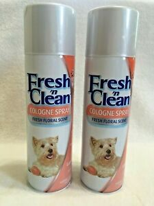2  Fresh 'n Clean Dog Cologne Sprays Original Floral Scent  Lambert Kay 12 oz