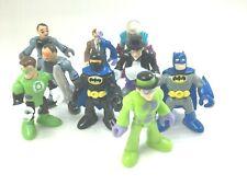 Fisher Price Imaginext DC & Marvel Comics Super Heroes Figure Lot of 9