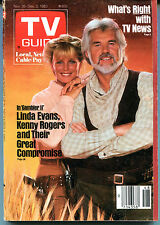 TV Guide Nov. 26-Dec. 2, 1983 Kenny Rogers Linda Evans EX NO ML 120715jhe