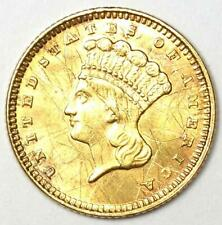 1873 Indian Gold Dollar Coin (G$1) - Uncirculated Details (UNC / MS - Scratches)
