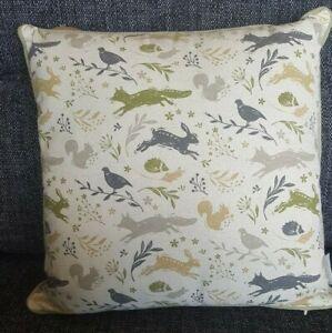 Cooksmart Woodland cushion with fibre insert hare / fox / squirrel, 45cm sq