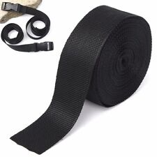 50mm 10m Black Nylon Fabric Webbing Tape For DIY Strapping Belting Bag Strap