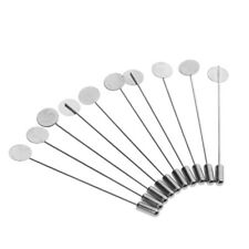 Base Brooch Suit Lapel Pin Party New 10x Silver Lapel Tie Pin Stick Pin
