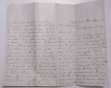1879 Lamson Goodnow Handwritten Letter Yale Stamped Signed Ephemera L926B