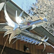 """Titanzink- Wasserspeier """"Myrcella"""", Drachen, Drachenkopf, Dragon, DN 60/76/80/87"""