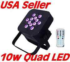 Flat Slim 10 watt QUAD LED RGBA Par can puck style DMX Light 120w uplighting