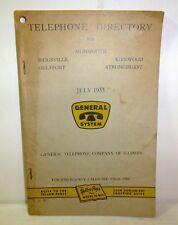 1955 Illinois telephone directory, Monmouth, Biggsville, Stronghurst, Gulfport