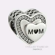 Authentic Pandora Silver Tribute to Mom CZ Bead 792070CZ MOTHER'S DAY 2017