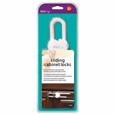 Kidco S342 White Sliding Cabinet And Drawer Lock 2 Pack White(Fp)