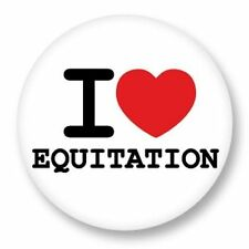 Magnet Aimant Frigo Ø38mm ♥ I Love You j'aime Sport Equitation