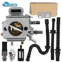 Carburetor For STIHL MS290 MS310 MS390 029 039 Air Filter Fuel Line Repower Kit