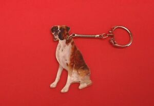 Boxer Dog Collectable Keyring Boxer Seated Gift Dad Mum Vet Kennels Xmas NEW