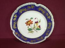 "#4 CHELSEA HOUSE K494 FLORAL DECORATIVE DINNER PLATE 10.75"" - COBALT/GOLD"