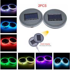 Universal LED Car Cup Holder Light Solar Cover Trim Bottom Bottle Mat Pad Colors