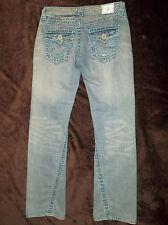 Womens True Religion Jeans 26 Joey Super T Blue Stitch Jeans