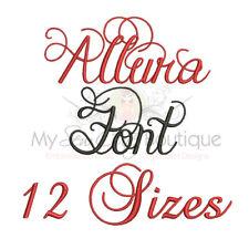 ALLURA ALPHABET FONT MACHINE EMBROIDERY DESIGNS - 10 SIZES - IMPFCD57