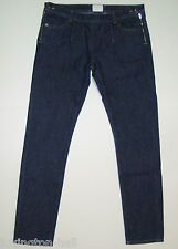 "BEAUTIFUL SASS&BIDE for TOPSHOP DARK BLUE SLIM LEG DENIM JEANS 30 ""DAY DREAMER"""