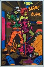 Billy The Kid 23x35 Blacklight Poster 1970's