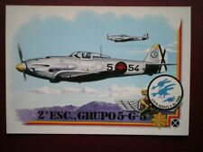 POSTCARD WWII HEINKEL 112B-1 OF 2 ESCUADRILLA 5-G-5 SPAINISH AIR FORCE COMBAT AI