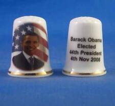 Birchcroft Porcelain China Thimble - Barack Obama Election - Free Box