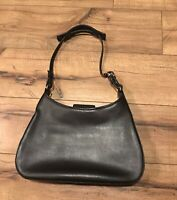 Authentic Coach F0K -8134 Black Leather Small Hobo Handbag Purse Bag ~ EUC