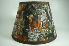 Primitive Deer Elk Bear Turkey Duck Tree Camo Fabric Lampshade Lamp Shade