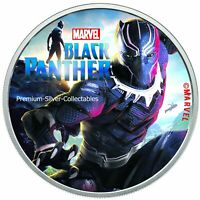 2018 Tuvalu Marvel Series Black Panther .9999 - 1 Ounce Pure Silver Colorized!