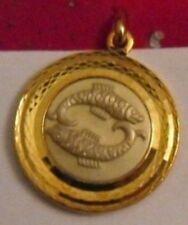 belle médaille bijou couleur or astrologique signe zodiac poisson * 4825