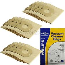 15 x HR6938, OSLO Dust Bags for Philips HR6371 HR6373 HR6396 Vacuum Cleaner