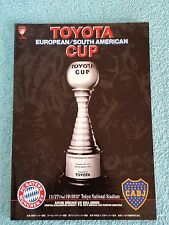 2001 - CLUB WORLD CUP FINAL PROGRAMME - BAYERN MUNICH v BOCA JUNIORS