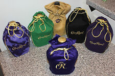 6 CROWN ROYAL BAGS COLLECTORS LOT CAMO GREEN BLACK VELVET SUEDE PURPLE FREE SHPG